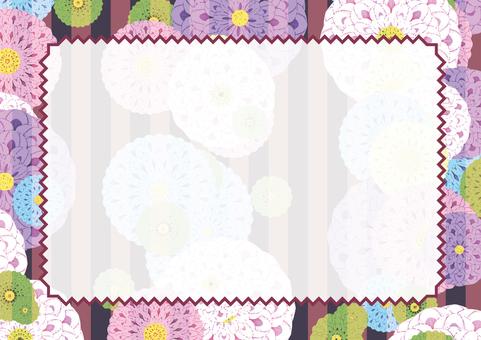 Japanese pattern card (Dahlia)