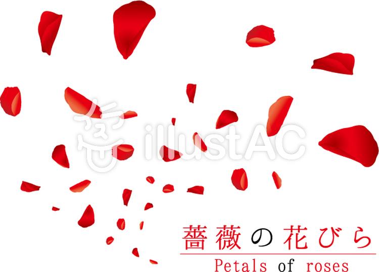 薔薇の花びら舞1イラスト No 889592無料イラストならイラストac