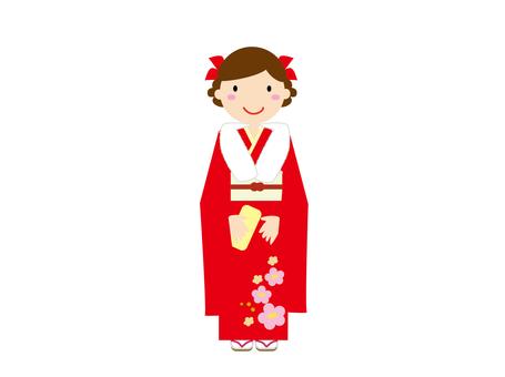 成人禮儀_和服
