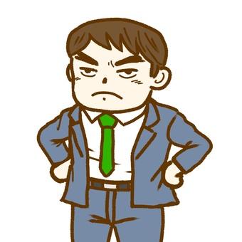 An angry man