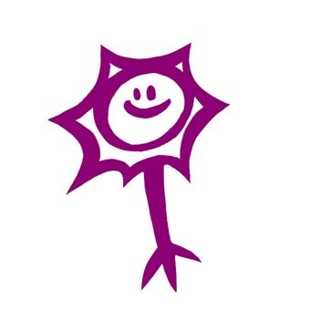 Nerve cell (purple)