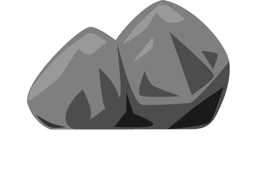 Free illustration material of rock (rock only)