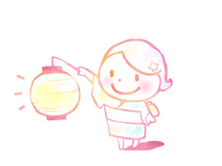 Child with a lantern
