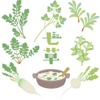 Spring seven herbs set