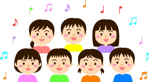 노래 아이들 (컬러 테두리 있음)