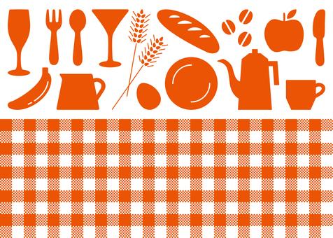 Kitchen check pattern icon