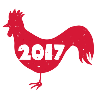 Chicken icon 2017 red