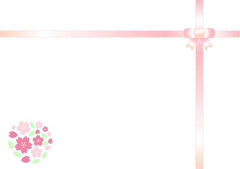 Cherry frame ribbon arrangement