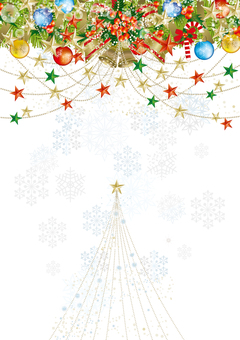 Christmas wreath & snow 20