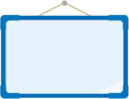 화이트 보드 : 파랑
