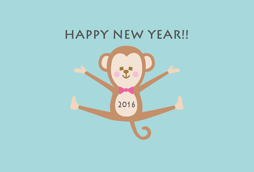 Monkey's pop new postcard 2016