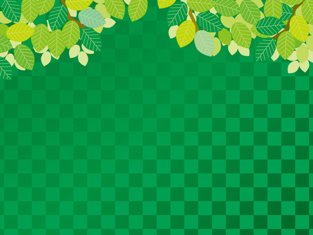 Graded background (21) Green grid and fresh green in summer