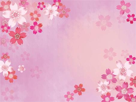 Hand Drawn Wind Sakura Background