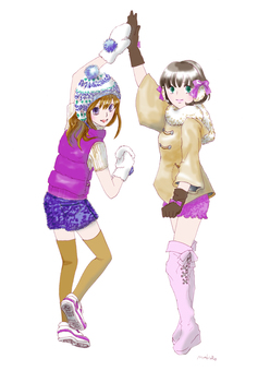 WinterGirls beige × purple