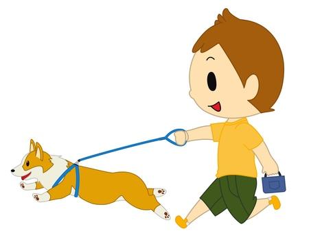 Boy to take a walk