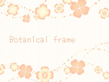 Clover frame / Orange
