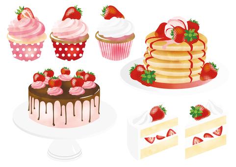 Various cakes set