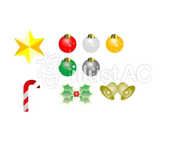 クリスマスオーナメントイラスト No 1300208無料イラストなら