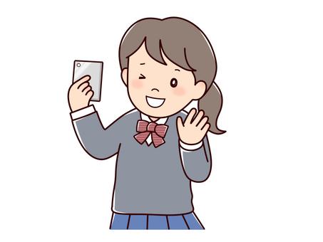 Self-portrayed girls