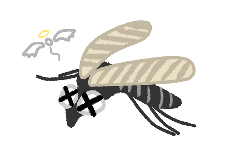 Defeated mosquito