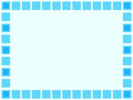 Square box · Frame (light blue)