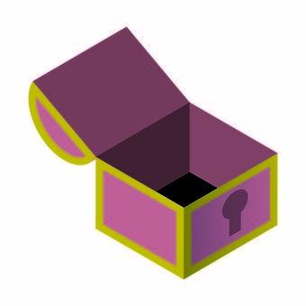 입체적인 보물 상자의 일러스트