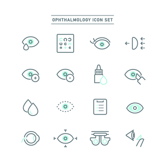 Ophthalmology icon set