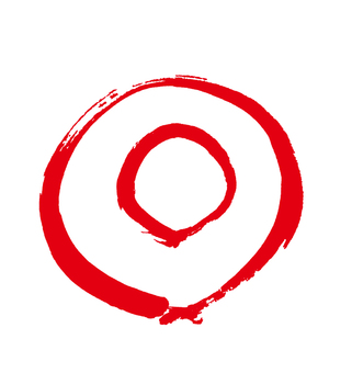 Double circle drawn with a brush