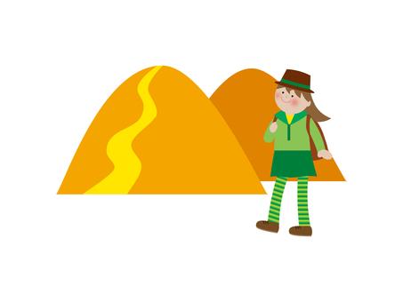 登山圖材料