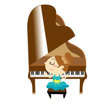 ピアノを弾く女の子02