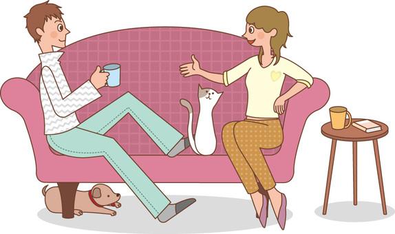 夫婦/沙發