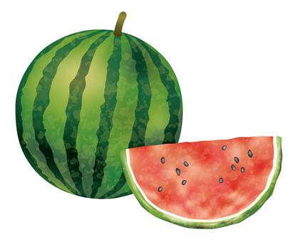 西瓜的水彩樣式例證