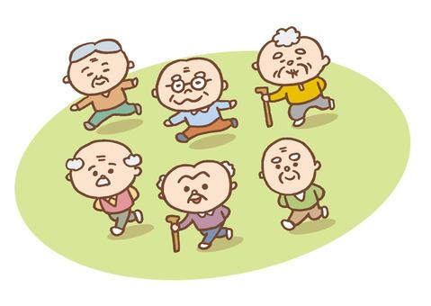 Grandpa Running