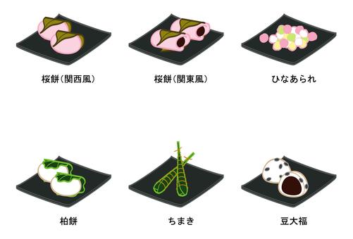 Japanese sweets 6 varieties