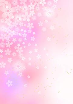 Sakura _ pale pink _ background _ vertical type 1844
