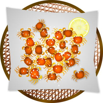 Deep-fried Sawa crab