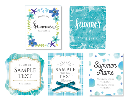 Summer label set