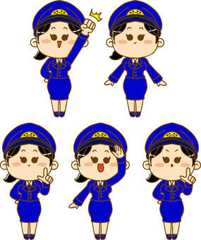 Female police officer set