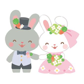 결혼식 토끼 2