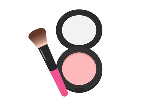Cheek and makeup brush