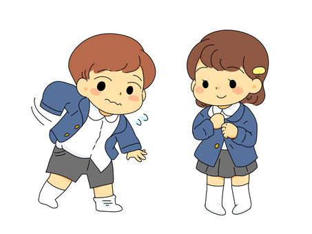 Change of kindergarten uniform