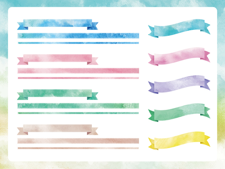 Watercolor Material Collection-Ribbon 1