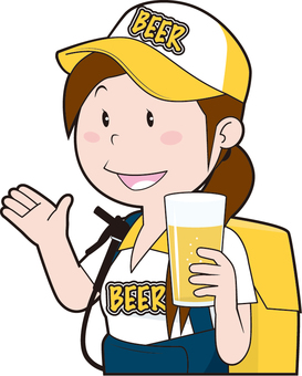 Beer selling girl