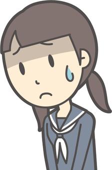 Junior high school sailor woman -054- Bust