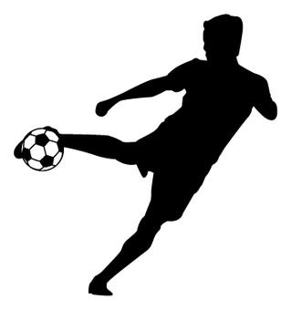 축구 실루엣 -01