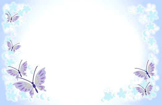 Butterfly and flower frame 1