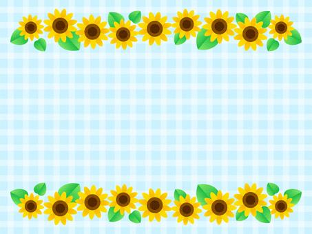 Sunflower frame (light blue)