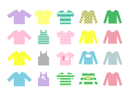 シンプルな衣類のセット