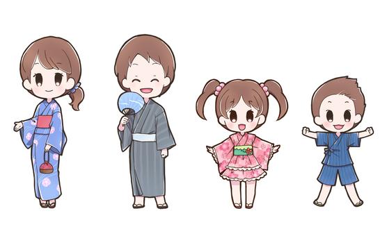 Yukata character set _ B