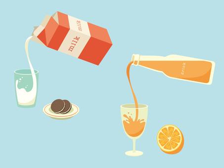 Pour milk _ pour a drink